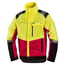 moderne Forstjacke Forstschutz Jacke Komfort rot/neongelb