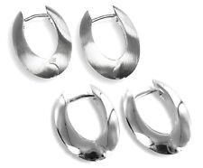 925 ECHT SILBER *** Klapp-Creolen Ohrringe matt oder glänzend 21 mm