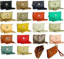 Large Clutch Bag Multi Compartment Cross Body Bag Purse Wallet Wrist Long Strap