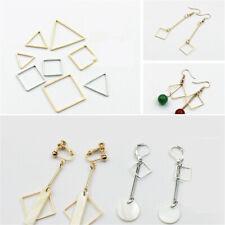 10x simple Metal beads Geometric Pendant connector earrings findings varis style