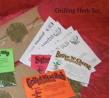 Herb Mix Seasoning packets RUBS & MARINADES~Barbeque~Jerk~garlic~gluten free