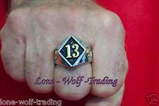 Lucky #13/Skull Ring-SS/TwoTone - SR3042-J