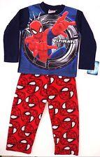 Marvel Spider-man Boys 2 Piece Pajama Set 100% Polyester Sizes 4 6 8 10 NWT