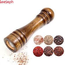 Pepper Wood Mill Solid Salt And Grinder ShakerOaken Adjustable Ceramic Grinder