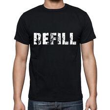 refill Tshirt, Homme Tshirt Noir, Mens Tshirt black, Cadeau, Gift