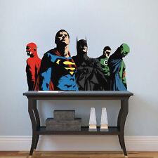 Superheroes Decals Batman Wall Decal Mural Superman Kids Hero Wall Decals, b03