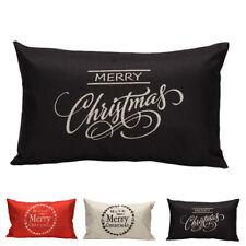 Christmas Pillow Sofa Waist Soft Cotton Throw Cushion Cover Fashion Home Decor