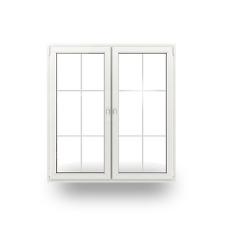 Balkontür Terrassentür Türe Kunststofftür 2-Flügler Sprossen 6 Felder 2-Fach