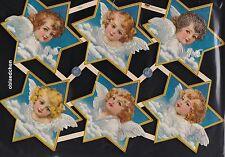 # GLANZBILDER # EF 7439, nostalgische Engel in Sternen, ganz alte Motive !