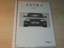 16125) Opel Astra Preise & Extra Prospekt 04/95