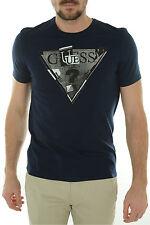 Tee shirt Guess Homme manches courtes M44I18 Bleu foncé