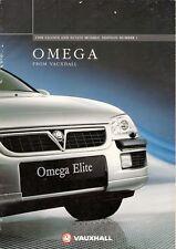 Vauxhall OMEGA 1997-1998 mercato britannico opuscolo Elite CDX CD riflessione TOURER GLS