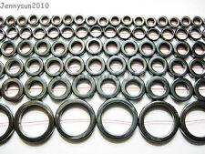 Natural Hematite Gemstone Round Ring Beads 16'' 8mm 10mm 12mm 14mm 16mm 27mm