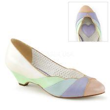 Scarpe decoltè decollete vintage tacco basso colorat retro sposa Pleaser Lulu-05