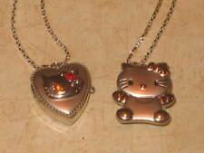 New Women's Girls Hello Kitty Pocket Watch Pendant Necklace - U Pick