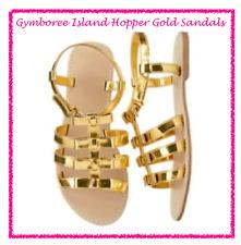 *NWT* GYMBOREE GIRLS 10 11 13 2 ISLAND HOPPER METALLIC GOLD SANDALS SHOES