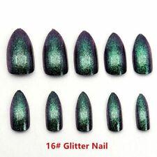 Fake False Nails Metallic False Chrome Nail Arts Manicure Press On Mirror Looks