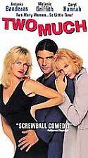 Two Much (VHS, 1996) Antonio Banderas Melanie Griffith Daryl Hannah NEW Sealed