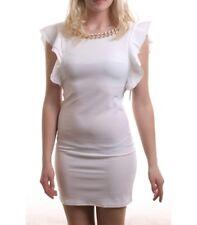 Madonna miniabito Kamella CATENA volant manica in bianco abito estivo vestito corto