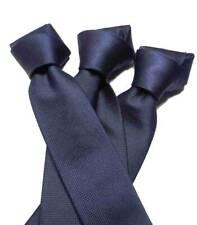 CRAVATTA uomo tinta unita blu in seta elegante e raffinata made in italy