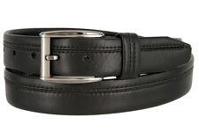 """Lejon Belt Full Grain Harvard Waxy Leather Dress Belt 1-3/8"""" Wide """"Made in USA"""""""