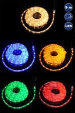 LED Lichterschlauch Lichterkette Weihnachten 9 Meter rot blau weiß gelb grün
