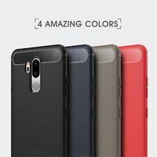 Housse etui coque silicone gel carbone pour LG G7 Thinq + film ecran
