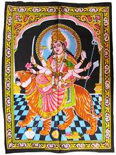 DURGA Wandbehang Stoffbild mit Pailetten Indien Hinduismus Shakti Kumari Nepal