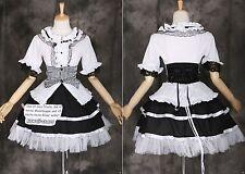 M-3310 S/M/L/XL/XXL Gothic Punk Lolita Bluse Rock schwarz Kostüm dress Cosplay