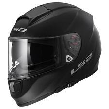 LS2 FF397 VECTOR EVO fibre de verre complet Double visière casque moto Noir Mat