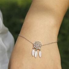 Feather Tassel Dream Catcher Chain Link Bracelet Bangle Women Lady Jewelry