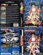 Fatal Fury Sega Mega Drive Genesis PAL NTS Replacement Box Art Case Insert Cover
