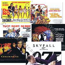 007 James Bond OFFICIAL Connery Roger Moore Daniel Craig UK Quad Art Print Sets