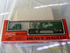 K-LINE #6670 COKE COCA COLA TRAIN HEAVY HAULER SPRITE TRACTOR-TRAILER ON FLATCAR