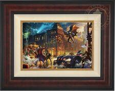 Thomas Kinkade Dark Knight Saves Gotham City 12 x 18 LE G/P Canvas Framed DC