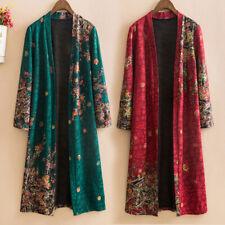 Women Floral Cardigan Flower Print Oversize Kimono Open Front Ethnic Top New