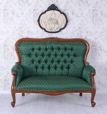 Sitzbank Landhausstil Sofa Polstersofa Couch Antik Zweisitzer Mahagoni Bank