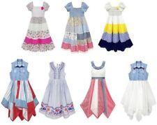 NUEVO niña GITANO estampado de flores verano vestidos Edad 2-11 Años