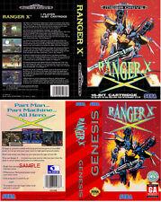 RANGER x SEGA MEGADRIVE & GENESIS PAL & NTSC RICAMBIO box-art CASE inserisci