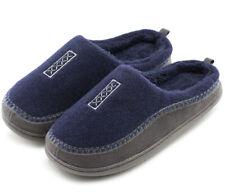 Men's Cozy Fuzzy Wool Fleece Memory Foam Slippers Slip On Clog In/outdoor Shoes