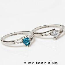 NEU Ring Silber aufgesetzter Stein transparent türkis Sweety 52(16,5 mm Ø) H35