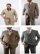 Tazio Men's 2 Piece Executive Classic Suit Tone on Tone Stripe 3 Button Jacket