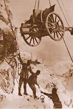 """Photo WW1 - Italie 1916 - Le canon des """"Alpini"""""""
