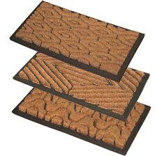 JVL Heavy Duty Rubber Natural Coir Tuffscrape Outdoor Door Mat, 40 x 60 cm