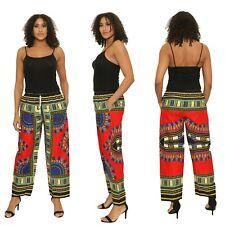 Dashiki African Womens Mens Pants Cotton Aladdin Yoga Harem Unisex One size