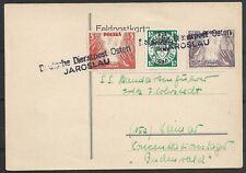 Generalgouvernment covers 1939 PC D.Dienstpost Osten/JAROSLAU