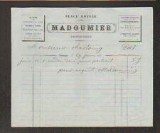 """LIMOGES (87) MIROITIER DOREUR / POLISSAGE & ETAMAGE """"MADOUMIER"""" en 1860"""