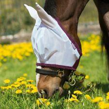 Horseware amigo Fine Mesh fly Mask With ears-Silver/Purple