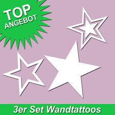 Wandtattoo Sticker Sterne Stern Star Sternenhimmel Wandaufkleber 3 Stück im Set