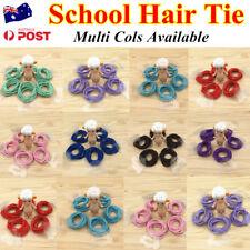 10Pcs Kids Girls Elastic School Hair Tie/Hair Band For Ponytail Multi Cols